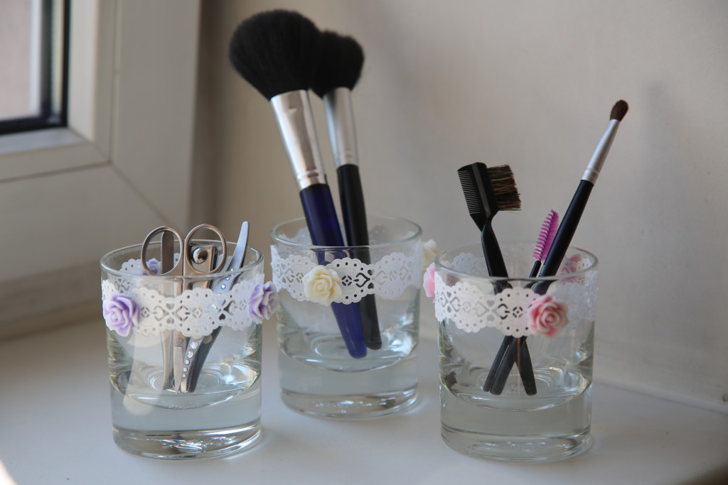 Lovely holders for candles, make-up etc