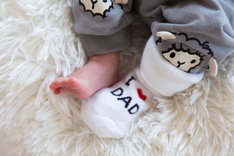Lapse esimese kuu pildistamine - I love dad sokid