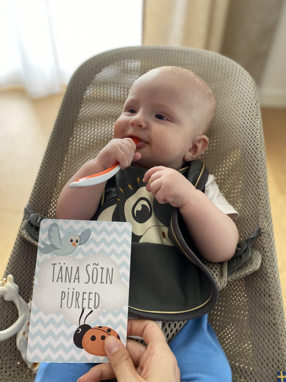 Lapse kuues kuu: täna sõin püreed