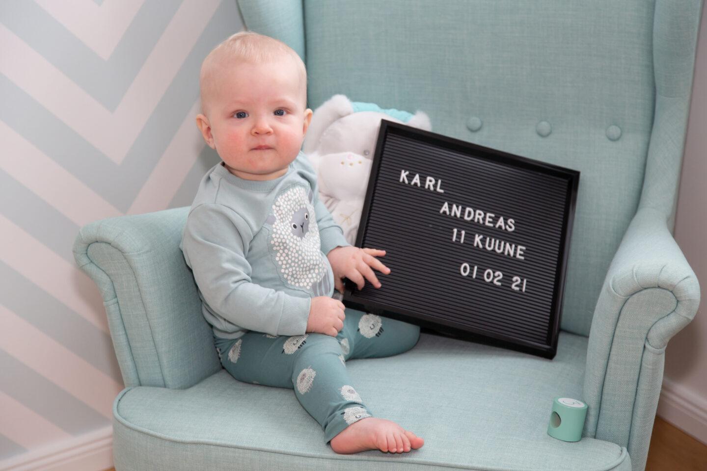 Lapse üheteistkümnenda kuu pildistamine